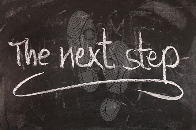 The next step written in chalk